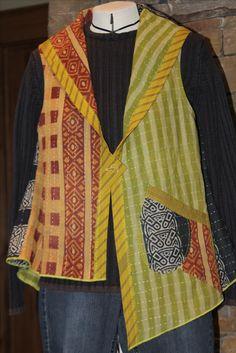 Kantha cloth vest - Sewing Workshop pattern