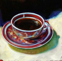 """Kona Coffee"" Blanding Ware cup c; available at Lahaina Galleries"