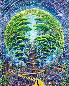 ॐ Psychedelic Mind ॐ Arte Inspo, Trippy Pictures, Arte Peculiar, Psychadelic Art, Acid Art, Psy Art, Hippie Art, Visionary Art, Surreal Art