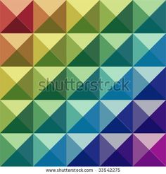 stock vector : Retro colored vector check pattern.  How awesome would this be as a quilt?  Even if it was just four colors....