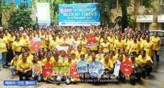 장길자회장님과 함께하는 헌혈하나둘 운동. 제 98차 인도 뭄바이에서 헌혈을 펼치고 있다.