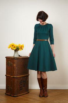 Jerseykleid mit Tellerrock
