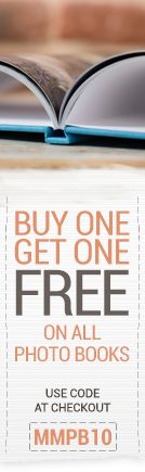 Buy One Get One Free On All Photo Books ★ This Weekend Only  Simply add 2 photo book vouchers of your choice to the cart. Apply discount code: MMPB10 and receive the cheapest item free!  http://www.huggler.com/  #photobook   #SALE   #Deal