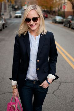 Harlem Prep: Pinstriped Shirts, Blazers and Skinnies - Kelly in the City