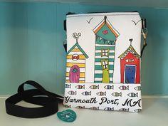 Beach Cottages Vinyl Cross Body Bag