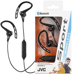 Jvc haec black bluetooth wireless sport in-ear ear clip headphones/all Bluetooth In Ear Headphones, Packaging Design, Sports, Ebay, Black, Helmets, Hs Sports, Black People, Design Packaging