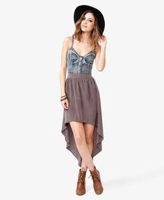 Flowy High Low Skirt | FOREVER21 - 2022531856