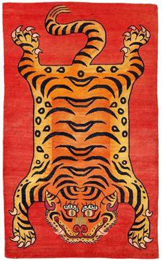 Tibetan tiger rugs