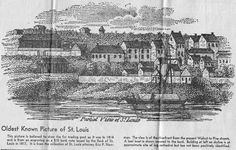 Oldest Known Picture of St. Louis   1814