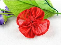 35pcs Organza Polyester with Cabbage Rose Flower Appliques Sewing Pick Color (Red) >>> Be sure to check out this awesome product.