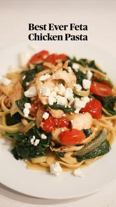 Chicken Pasta Recipes, Healthy Pasta Recipes, Healthy Pastas, Simple Pasta Recipes, Light Pasta Recipes, Spinach Pasta Recipes, Healthy Italian Recipes, Healthy Chicken Pasta, Pasta Sauce Recipes