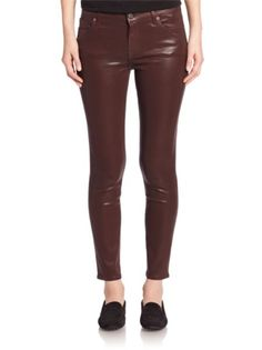7 For All Mankind - Coated Skinny Ankle Jeans