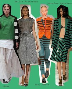 STRIPES  Be they vertical, horizontal or diagonal, stripes are big news for next season