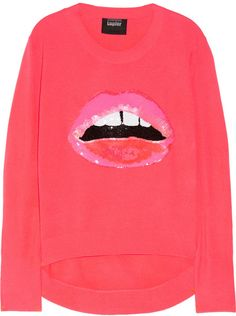 Lips Sequined Knitted Sweater - Lyst