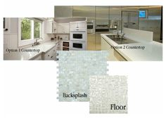 Kitchen Backsplash, Flooring, and Countertop