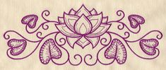Lotus Crest | Urban Threads: Unique and Awesome Embroidery Designs