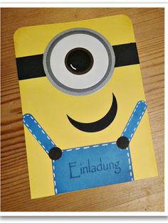 By Keksie: Minion Geburtstag, Einladungskarte