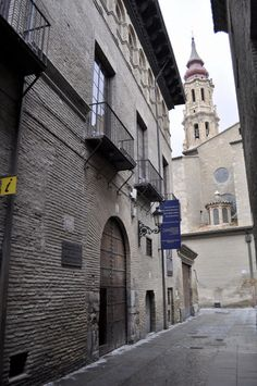 Building, Spain, Zaragoza, Ancient Architecture, 16th Century, Old Pictures, Paths, Palaces, Towers
