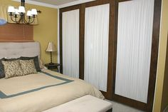 We did this.  How to Repurpose Mirrored Closet Doors : Decorating : Home & Garden Television