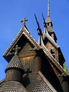 Fantoft Stave Church, Bergen, Norway.