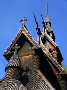 Fantoft Stave Church, Bergen, Norway.