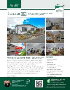 Two Bd/Two Ba Well-Maintained One Level Double-Wide Manufactured Meadow Verde Home in Nice 55+ Community at: 507 NE 99th St Unit 23, Vancouver, Clark County, WA! Area 41. Listing Broker: Justin Underwood, John L Scott, Vancouver, WA! Price Improved! Real Estate for Sale: Now $134,500 #realestate #priceimproved #vancouverrealestate #NorthHazelDell #Felida #onelevel #doublewidemanufacturedhome #MeadowVerde #twobedroom #55pluscommunity #JustinUnderwood #JohnLScott