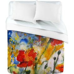 Duvet Cover Wildflowers Poppies 2 (by DENY Designs) by DENY Designs, http://www.amazon.com/dp/B005JZ3EOK/ref=cm_sw_r_pi_dp_eXr5qb1E7E6X1