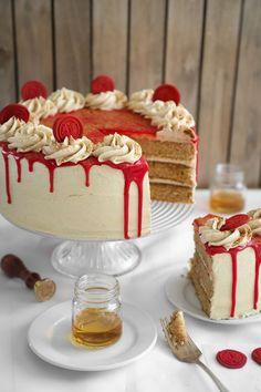Bourbon Vanilla Layer Cake (aka Maker's Mark Cake) by SprinkleBakes