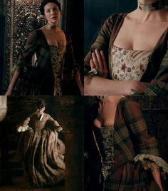 Claire's Gathering Dress    Outlander S1E4 'The Gathering' on Starz   Costume Designer TERRY DRESBACH