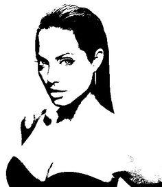 #Angelina #Jolie #Stencil