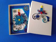 Quilling Christmas card Quilled card Christmas Merry