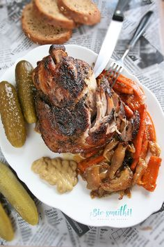 sio-smutki! Monika od kuchni: Golonka pieczona z warzywami (z piwem) Tandoori Chicken, Lamb, Steak, Pork, Food And Drink, Menu, Ethnic Recipes, Kale Stir Fry, Menu Board Design