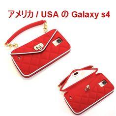 pursecase パースケース アメリカ ミラー付き RED SAMSUNG GALAXY S4 シリコン レッド サムスン ギャラクシー エス4 ケース 海外 ブランド