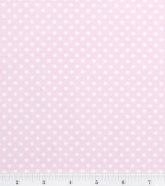 3.99 DIY Curtains Nursery Baby Basic- Dots White on Pink: nursery fabric: fabric: Shop | Joann.com