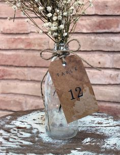 20 rustic  table number . distressed aged tags . by montanasnow, $24.00