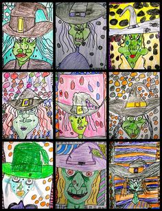 After reading The Witches by Roald Dhal, have kids draw the witch version of me! The Witches Roald Dahl, Roald Dahl Day, Halloween Art Projects, Fall Art Projects, Roald Dahl Activities, Art Activities, Drawing For Kids, Art For Kids, Vampires