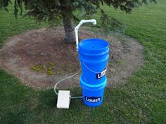 Hands free wash station! No valves or knobs to turn! Take it camping, fishing, hunting, use in the garden, the back yard, the garage, the barn, anywhere!