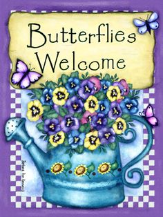Blue Butterfly: Barbara Ann Kenney Illustrations / Garden