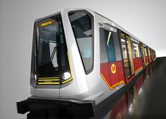 Think public transportation isn't sexy? How about if BMW designs your city's subway system? The luxury car did just that in Poland, where it plans to launch the Inspiro subway car. Warsaw Metro, Bay Area Rapid Transit, Underground Tube, Bmw Design, Metro Rail, Metro Subway, Train Truck, Railway Museum, U Bahn