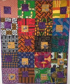 Morning Coffee on My Patio, inch art quilt African Textiles, African Fabric, African Prints, Asian Quilts, Coffee Theme, American Quilt, Colorful Quilts, Afro Art, Quilting Designs