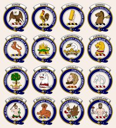 Scottish clan crests...there we are bottom right !