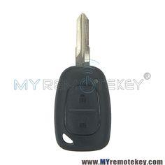 Car Remote Control Key,3 Button Car Key Fob Case Remote Key Fob Shell Case Fit for Logan Sandero Clio Fluence Vivaro Master Traffic