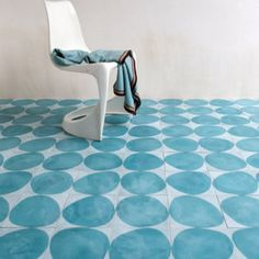 A contemporary twist for traditional cement floor tiles