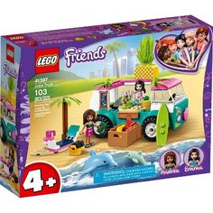 Shop LEGO Friends Juice Truck 41397 at Best Buy. Find low everyday prices and buy online for delivery or in-store pick-up. Lego Truck, Toy Trucks, Food Truck, Lego Friends Sets, Friends Tv, Building Sets For Kids, Building Toys, Legos, Van Lego