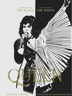 Freddie Mercury, Roger Taylor, John Deacon, Brian May and Bohemian Rhapsody (Film) Cast Tatouage Freddie Mercury, Queen Album Covers, Queen Drawing, Queen Meme, Queen Albums, Queen Poster, Queens Wallpaper, Queen Aesthetic, Queen Photos