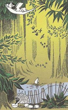 Moominpappa in the forest