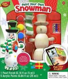 Snowman - Wood Painting Kit