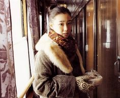 """Japanese actress and model Yu Aoi photographed by Takahashi Yoko on her trip around Russia for the photobook """"Dandelion"""" (2007)"""