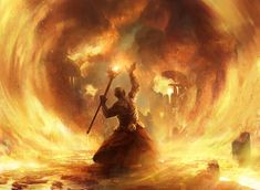 Fated Conflagration by AdamPaquette | See more fantasy art at www.fabuloussavers.com/wfantasy.shtml