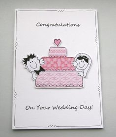 Wedding Cake Couple Card £2.35